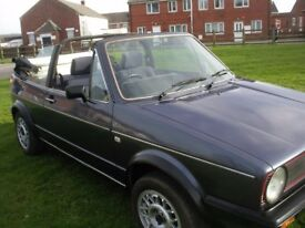 MK1 GOLF GTI CABRIOLET, HELIOS BLUE, HPI CLEAR, 81K MILES, MAY P/X , POSS CASH ALSO FOR RIGHT CAR