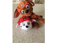 Paw patrol plush toy bundle as new