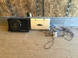 Sub amp capastor and some wiring