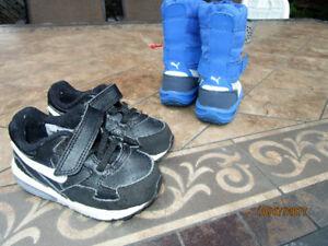 souliers nike et bottes puma, grandeur 6