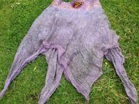 Indian ornamental skirt, purple, small to medium