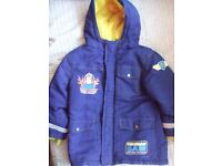 FIREMAN SAM COAT 5-6 Years Height: Up to 116cm