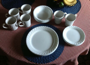 Corelle White Fluted Dishes