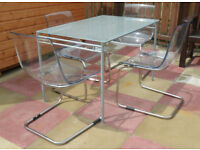 Kitchen Table (glass top) & four chairs