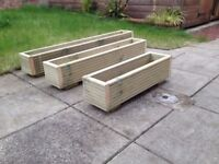 Decking board wooden planters - custom made - long lasting timber - custom orders