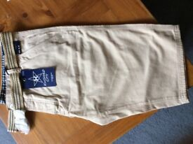 Brand New Kushiro City Belted Knee Length Summer Chinos, W 36
