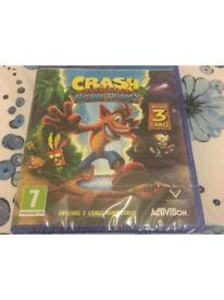 Crash Bandicoot Nsane Trilogy Brand New Sealed