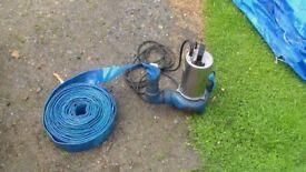 ABS sludge pump 2 inch with hose
