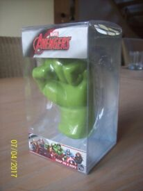 New & Boxed Avengers Marvel Soap On a Rope Hulk's Fist