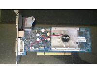 rare PCI pny 8400gs 512mb ddr2 ( gm8400spue49d+ote ) vga dvi s-video cooling fan