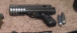 Paintball marker and gear
