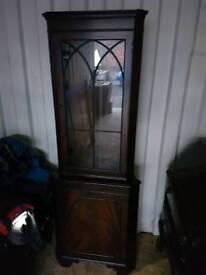 Beautiful condition mahogany glazed corner Cabinet