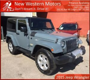 2015 Jeep Wrangler Sahara ONE OWNER! NAVI! LOW KM!