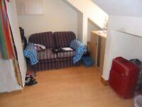 Studio flat in Central Reading, spacious, garden.Laundry room, Gas hob, DG,GCH, Top floor