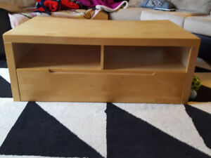 IKEA tv stand with drawer for organization