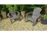 Two garden lounge chairs