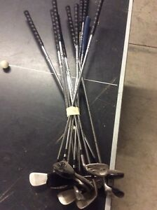 Goliath iron set, hybrids, 3 and 5 wood, putter