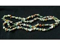 "90cm (35"") INDIAN AGATE TUMBLECHIP STRAND"