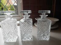 Decanters X three