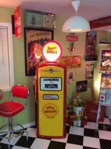 GAS PUMP; Shell, RED INDIAN, White Rose, TEXACO, restored