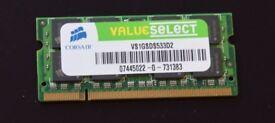 Corsair 1GB DDR2 SODIMM Memory / RAM