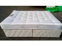 King size bed base with storage draws and matress