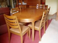 Nathan Dining Table and 6 Chairs