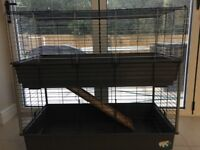 Double level indoor pet cage