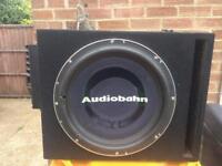 """Audiobahn 15"""" sub and alpine amp"""