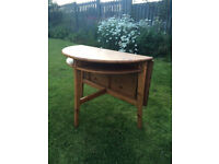 IKEA LAURILA Solid Pine Wood Drop Leaf Small Dining Table