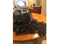 Helmet gloves jacket xl rukka hjc