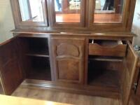 Beautiful Ornate hard wood cabinet.