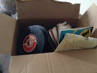Box of records- 7 inch