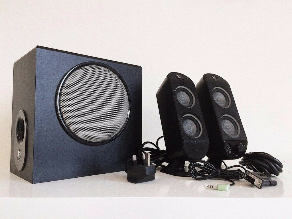logitech x 230 active speakers mint condition computer. Black Bedroom Furniture Sets. Home Design Ideas