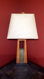 4 wood table lamps