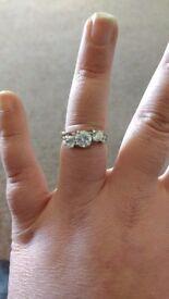 Diamonique QVC ring size P