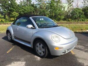 2003 Volkswagen VW New Beetle GLX TURBO Cuire Décapotable *FERME