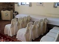49 (50, 1 marked) cream damask seat covers