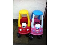LITTLE TIKES CARS AND 3 BIKES