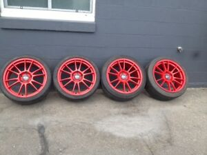 "Porsche 19"" Tires and Rims- nearly new"