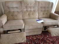 Lazy boy settee and chair