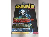 Original OASIS Loch Lomand 1996 Gig Poster, HUGE Advertising Poster, Never Displayed So EXCELLENT