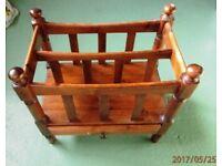 Antique pine magazine rack
