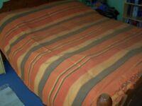 Orange Striped Cotton Throw.