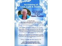 An Evening of Love, Light & Healing with Medium Jean Foster on 6 September