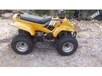 yellow apache tomohawk 50cc kids quad