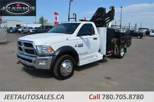 2013 Dodge Ram 5500 SLT 4x4 Picker crane 6 Ft. Flat Deck Diesel