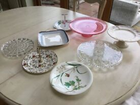 Selection of cake stands ideal for wedding/party