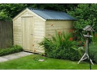bespoke handmade timber sheds - free delivery and installation - £475