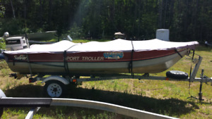 Sylvan Sport Troller 14.5' with Johnson 25 hp